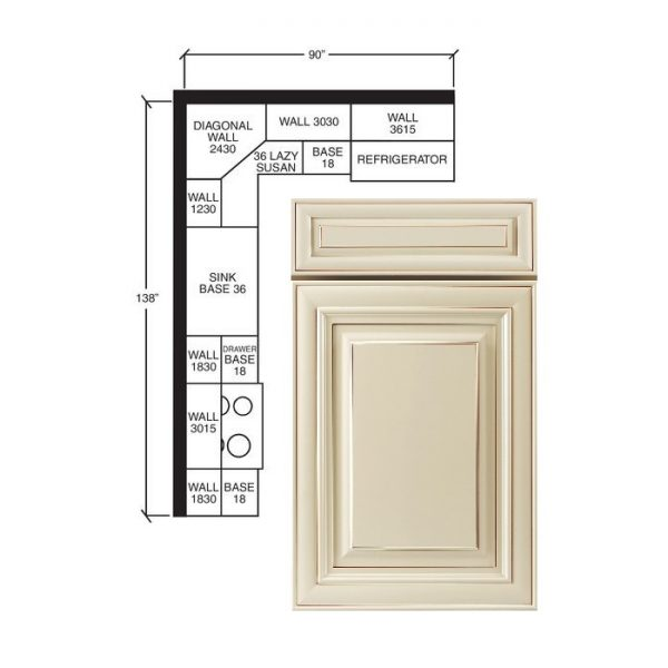 Sample Kitchen | Creme Maple Glazed(A7) 1